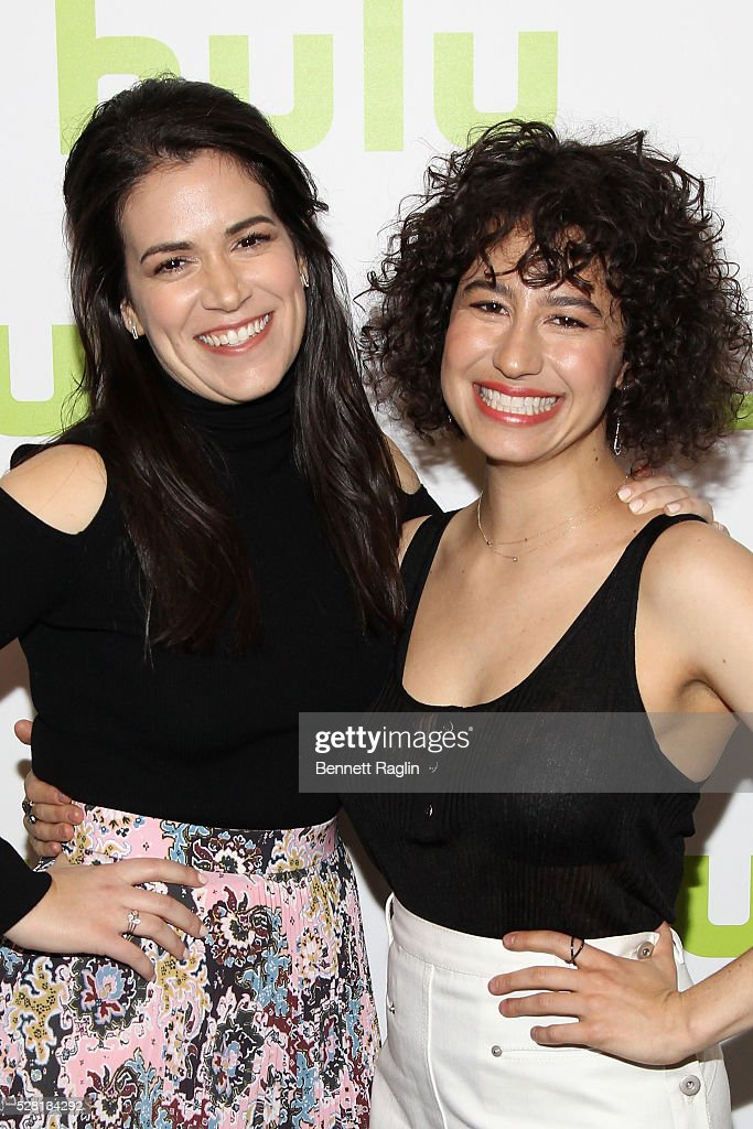 <a gi-track='captionPersonalityLinkClicked' href=/galleries/search?phrase=Abbi+Jacobson&family=editorial&specificpeople=12333694 ng-click='$event.stopPropagation()'>Abbi Jacobson</a> and <a gi-track='captionPersonalityLinkClicked' href=/galleries/search?phrase=Ilana+Glazer&family=editorial&specificpeople=10861068 ng-click='$event.stopPropagation()'>Ilana Glazer</a> of Broad City attend the 2016 Hulu Upftont on May 04, 2016 in New York, New York.