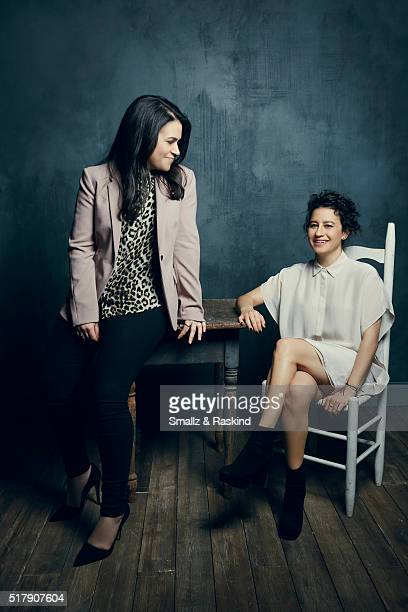 Abbi Jacobson and Ilana Glazer of 'Broad City' pose for a portrait in the Getty Images SXSW Portrait Studio Powered By Samsung on March 13 2016 in...