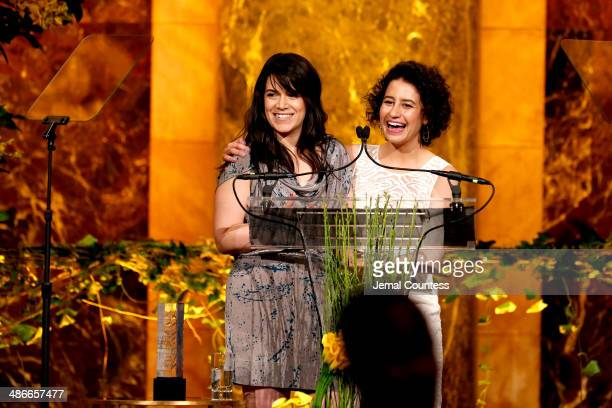 Abbi Jacobson and Ilana Glazer speak onstage at Variety Power Of Women New York presented by FYI at Cipriani 42nd Street on April 25 2014 in New York...