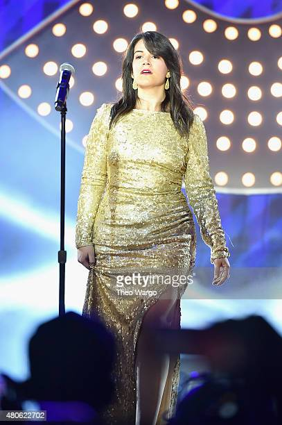 Abbi Jacobson performs onstage during the Lip Sync Battle LIVE At SummerStage In New York on July 13 2015 in New York City