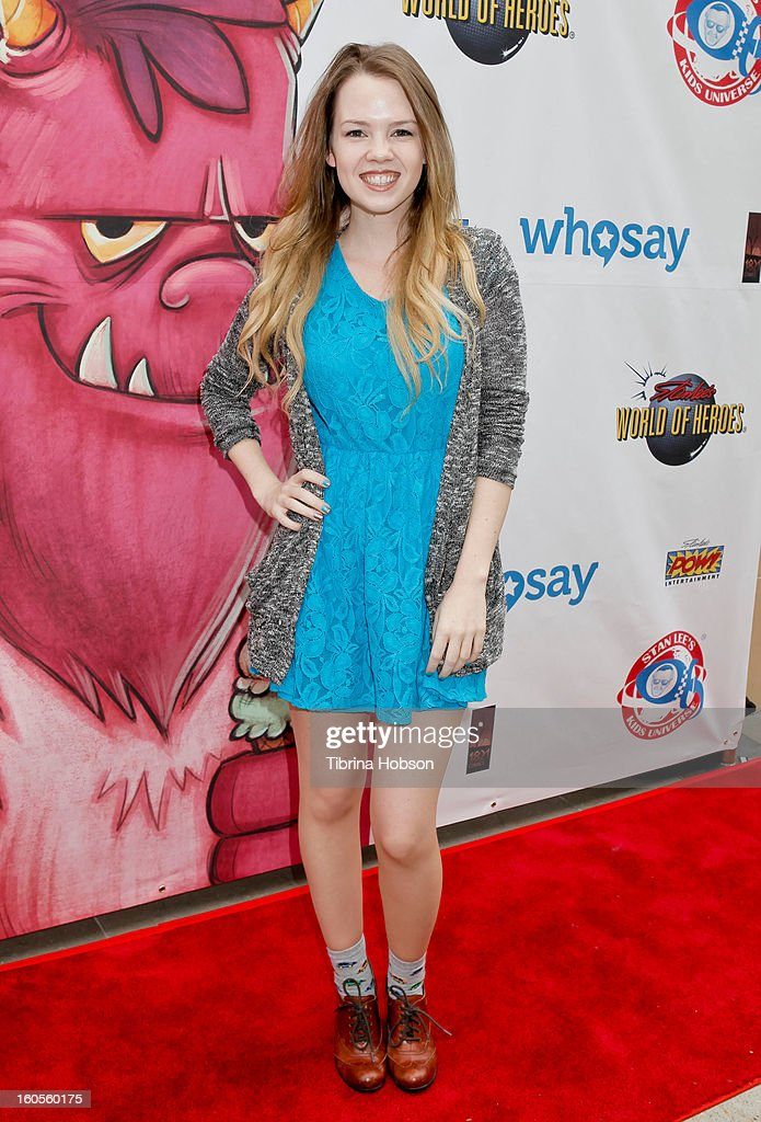Abbie Cobb attends Stan Lee's 'Kids Universe' book label launch at Giggles 'N' Hugs on February 2, 2013 in Century City, California.