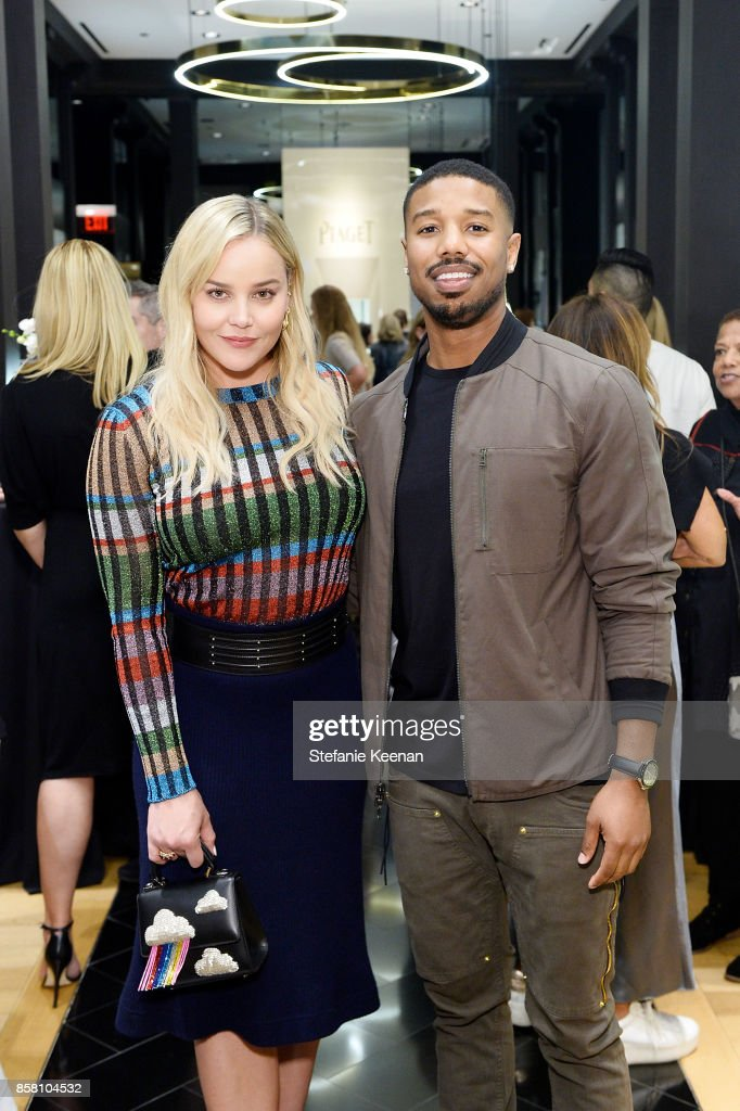 Abbie Cornish and Michael B. Jordan attend Piaget Celebrates Brand Ambassador Michael B. Jordan In Support Of Lupus LA at Piaget on October 5, 2017 in Beverly Hills, California.