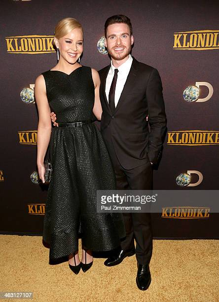 Abbie Cornish and Richard Madden attend the 'Klondike' series premiere at Best Buy Theater on January 16 2014 in New York City