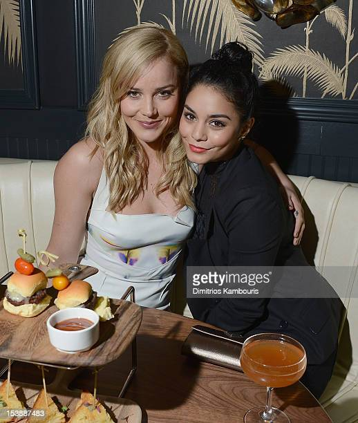 Abbie Cornish and Vanessa Hudgens attend The Cinema Society with Hugo Boss and Appleton Estate screening of 'Seven Psychopaths' at No 8 on October 10...