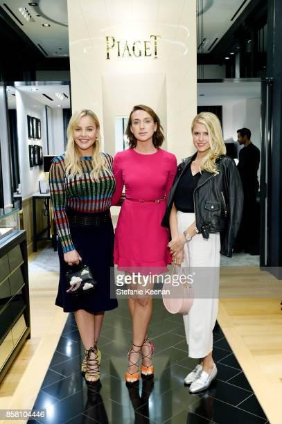 Abbie Cornish Anna Schafer and Sarah Wright Olsen attend Piaget Celebrates Brand Ambassador Michael B Jordan In Support Of Lupus LA at Piaget on...