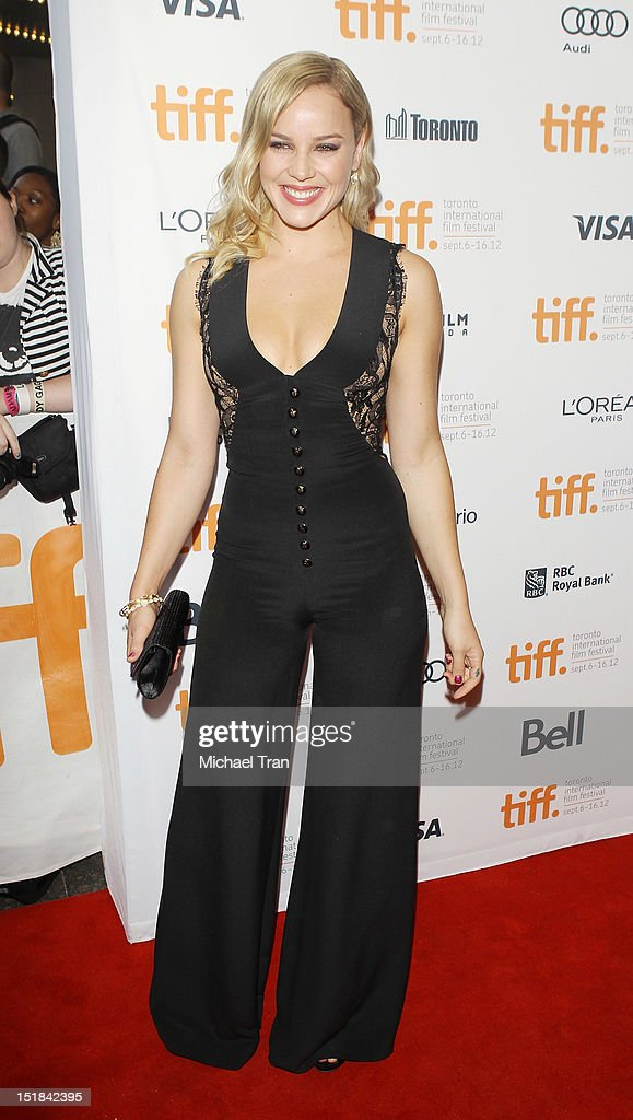 Abbie Cornish arrives at 'Disconnect' premiere during the 2012 Toronto International Film Festival held at Princess of Wales Theatre on September 11...