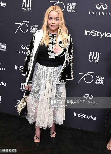 Abbie Cornish arrives at the Hollywood Foreign Press Association And InStyle Celebrate The 75th Anniversary Of The Golden Globe Awards at Catch LA on...