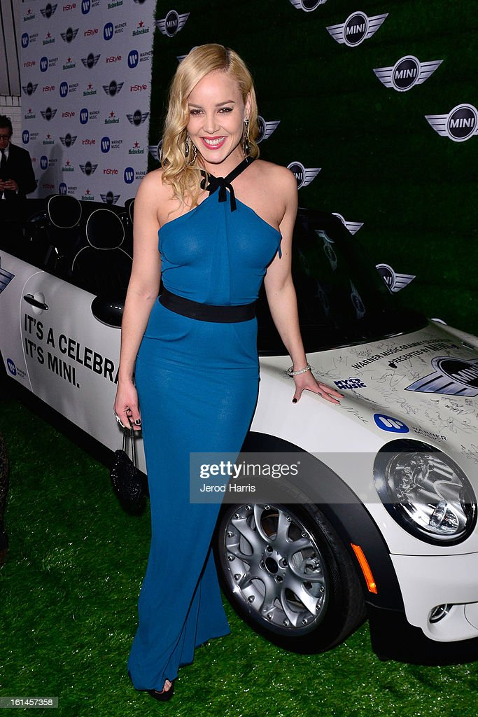 Abbie Cornish arrives at the Warner Music Group GRAMMY Celebration - Presented by Mini at Chateau Marmont on February 10, 2013 in Los Angeles, California.