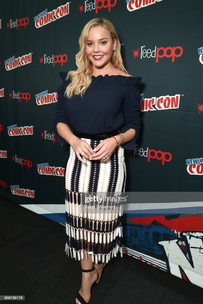 Abbie Cornish attends Amazon Prime Video's Tom Clancy's Jack Ryan Comic Con 2017 - Press Room at The Jacob K. Javits Convention Center on October 7, 2017 in New York City.