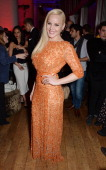 Abbie Cornish attends an after party following the World Premiere of 'RoboCop' at Skylon Restaurant on February 5 2014 in London England