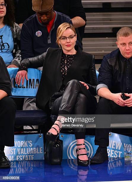Abbie Cornish attends the Philadelphia 76ers vs New York Knicks game at Madison Square Garden on November 22 2014 in New York City