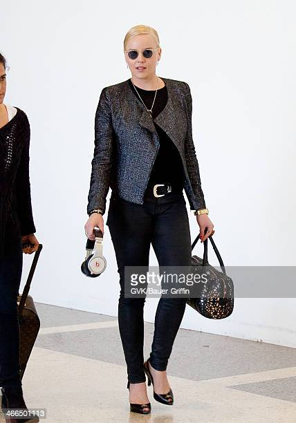 Abbie Cornish is seen at Los Angeles International airport on February 01 2014 in Los Angeles California