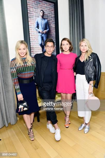 Abbie Cornish Jeff Kim Anna Schafer and Sarah Wright Olsen attend Piaget Celebrates Brand Ambassador Michael B Jordan In Support Of Lupus LA at...