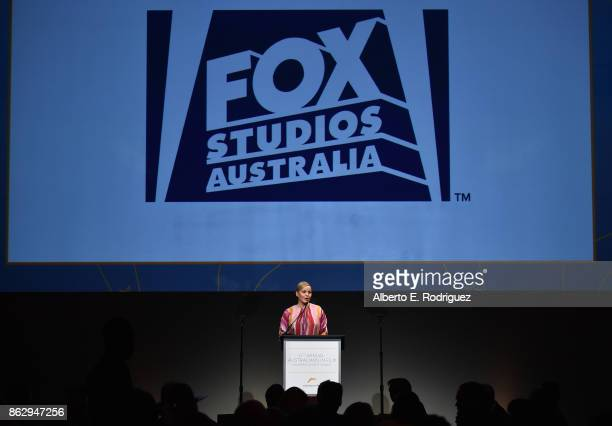 Abbie Cornish speaks onstage at the 6th Annual Australians in Film Award Benefit Dinner at NeueHouse Hollywood on October 18 2017 in Los Angeles...
