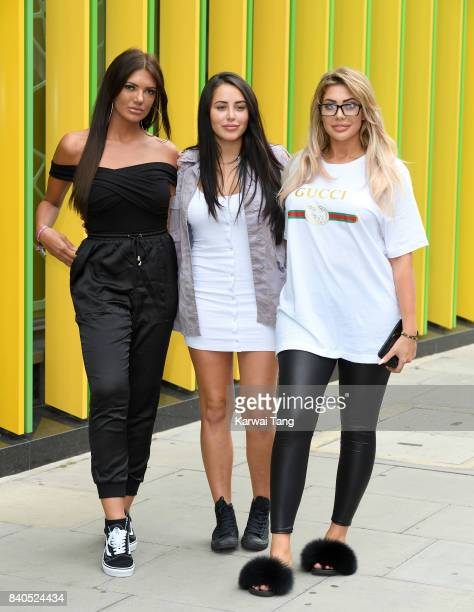 Abbie Holborn Marnie Simpson and Chloe Ferry attend the 'Geordie Shore Land of Hope and Geordie' series 15 Launch at the MTV HQ on August 29 2017 in...