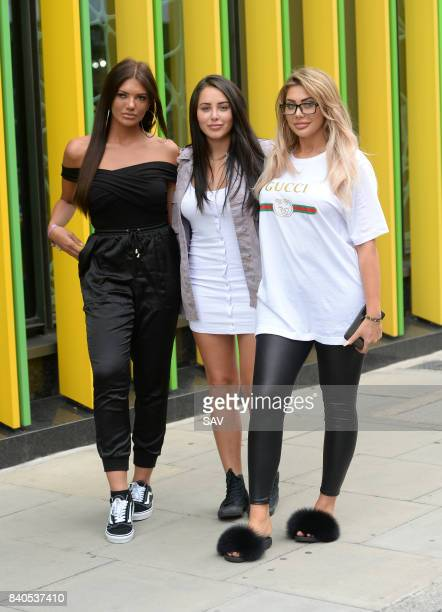 Abbie Holborn Marnie Simpson and Chloe Ferry outside the MTV Studios to promote the new series of Geordie Shore on August 30 2017 in London England