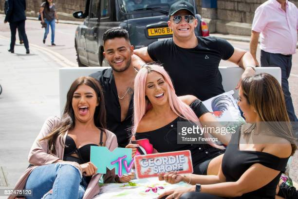 Abbie Holborn Nathan Henry Scotty T Chloe Ferry and Sophie Kasaei attend the Geordie Shore Land of Hope and Geordie photocall to celebrate the launch...