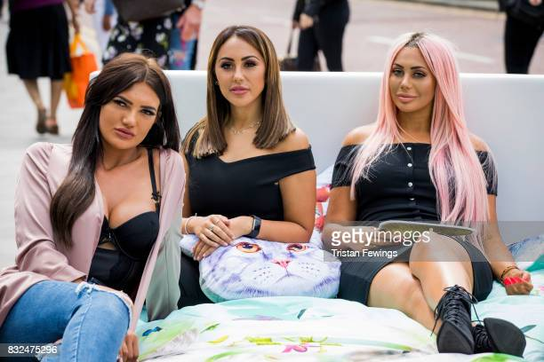 Abbie Holborn Sophie Kasaei and Chloe Ferry attend the Geordie Shore Land of Hope and Geordie photocall to celebrate the launch of series 15 on...