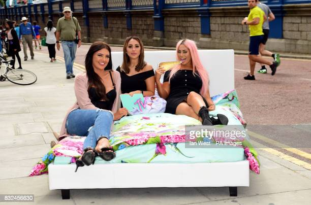 Abbie Holborn Sophie Kasaei and Chloe Ferry from the cast of Geordie Shore attending the photocall to launch series 15 of the show in London