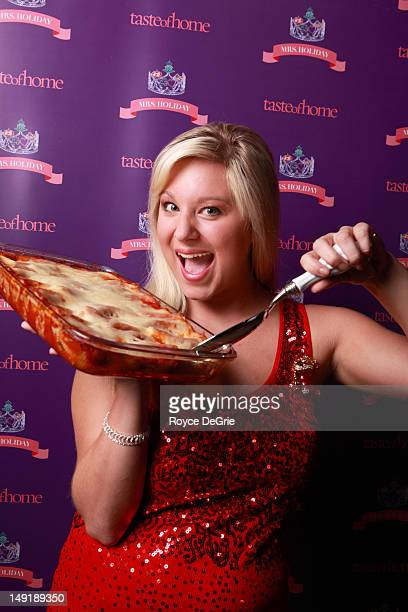 Abbie Irwin of Cookeville TN gets ready to participate in auditions in Nashville for Taste of Home magazine's new holiday ambassador Mrs Holiday The...