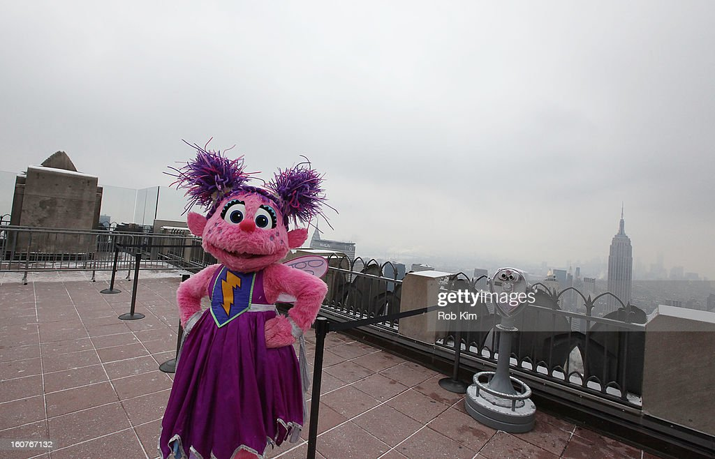 Abby Cadabby visits the Top of the Rock Observation Deck at Rockefeller Center on February 5, 2013 in New York City.