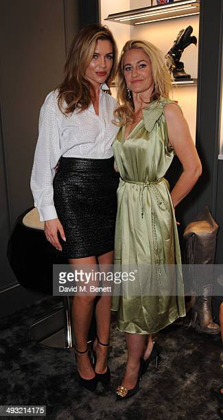 Abby Clancy and Angie Kurdash attend the unveiling of Mount Street as Gina celebrates 60 years on May 22 2014 in London England
