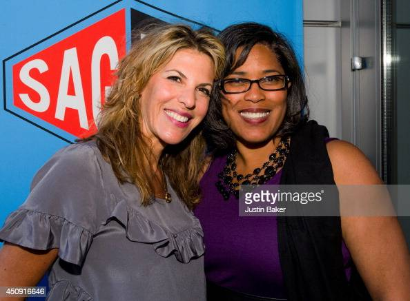 Abby Dylan and Darrien Gipson attend the SAGWGA Party during the 2014 Los Angeles Film Festival at Target Terrace Lounge on June 17 2014 in Los...
