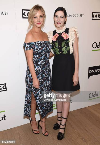 Abby Elliot and Jill Kargman attend The Cinema Society Hosts The Season 3 Premiere Of Bravo's 'Odd Mom Out' at the Whitby Hotel on July 11 2017 in...