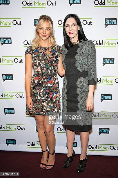 Abby Elliott and Jill Kargman attend Bravo Presents a Special Screening of 'Odd Mom Out' at Florence Gould Hall on June 3 2015 in New York City