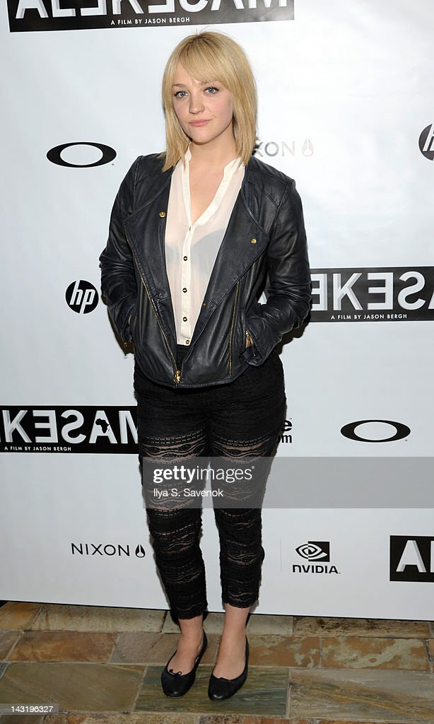 Abby Elliott attends the premiere of 'Alekesam' at Tribeca Grand Hotel on April 20, 2012 in New York City.