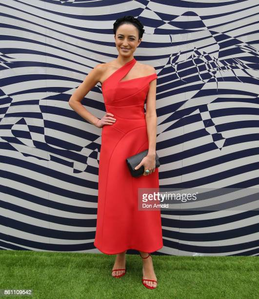 Abby Gelmi attends TAB Everest Day at Royal Randwick Racecourse on October 14 2017 in Sydney Australia