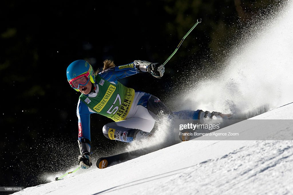 Abby Ghent of the USA competes during the Audi FIS Alpine Ski World Cup Women's Giant Slalom on November 24, 2012 in Aspen, Colorado.