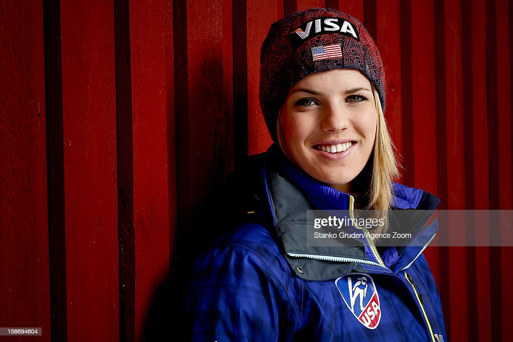 Abby Hughes of the USA Women's Ski Jumping Team poses on December 15, 2012 in Ramsau, Austria.