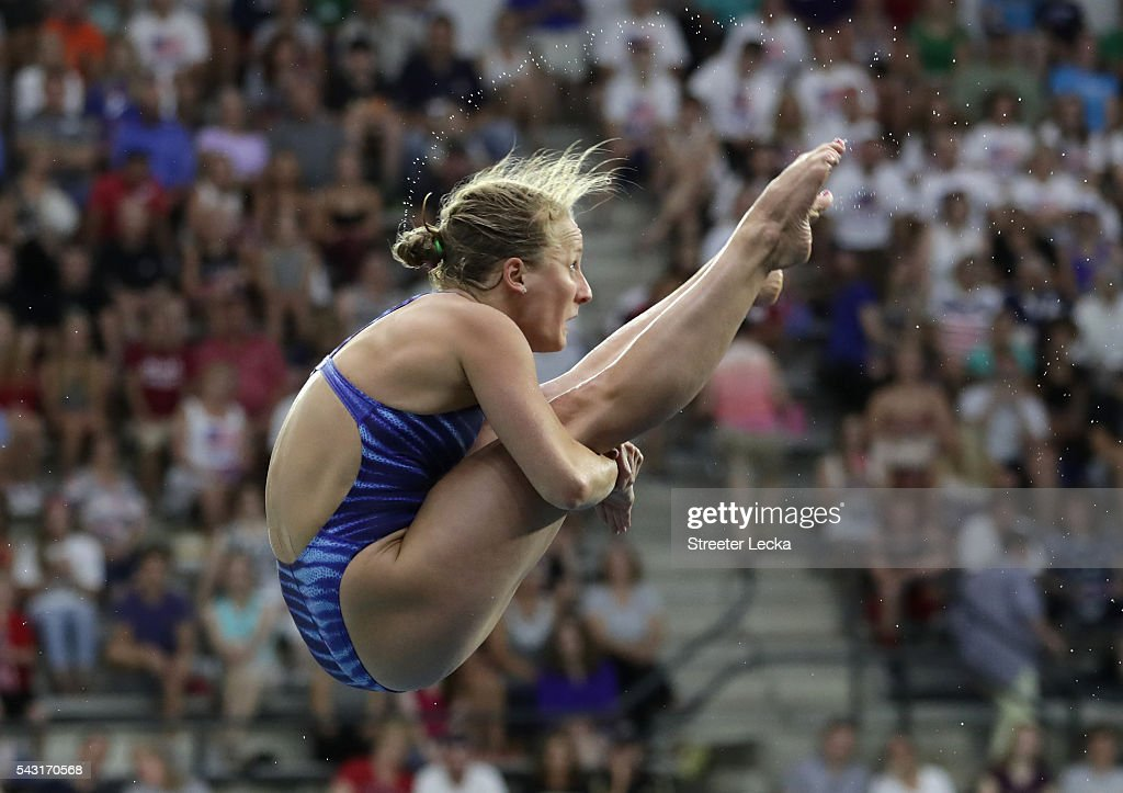 Abby Johnston competes in the Women's 3m Springboard final during day 9 of the 2016 U.S. Olympic Team Trials for diving at Indiana University Natatorium on June 26, 2016 in Indianapolis, Indiana.