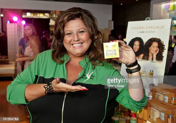 Abby Lee Miller of Dance Mom's poses with Mixed Chicks hair products at the 2012 KIIS FM VMA Pre Party and Gifting Suite at JW Marriot at LA Live on...