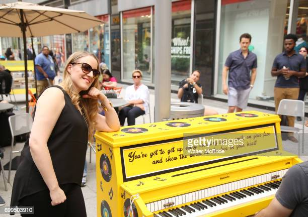 Abby Mueller from Broadway's 'Beautiful The Carole King Musical' unveils a special 'Sing For Hope' Piano with a public PopUp performance at One Penn...