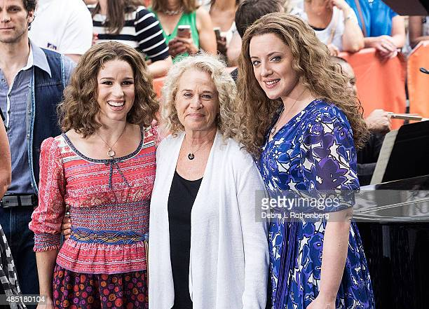 Abby Mueller Musician Carole King and Chilina Kennedy perform live on NBC's 'Today' at Rockefeller Plaza on August 25 2015 in New York City