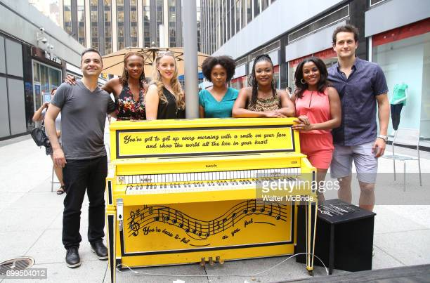 Abby Mueller with the cast of Broadway's 'Beautiful The Carole King Musical' unveil a special 'Sing For Hope' Piano with a public PopUp performance...