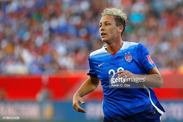 Abby Wambach of the United States looks on in the second half against Sweden in the FIFA Women's World Cup Canada 2015 match at Winnipeg Stadium on...