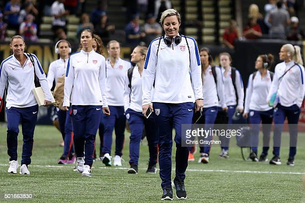 Abby Wambach of the United States walks on the field before the women's soccer match against China at the MercedesBenz Superdome on December 16 2015...