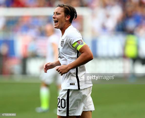 Abby Wambach of United States reacts in the second half against the South Korea during an international friendly match at Red Bull Arena on May 30...