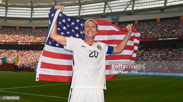 Abby Wambach of USA celebrates after FIFA Women's World Cup 2015 Final between USA and Japan at BC Place Stadium on July 5 2015 in Vancouver Canada