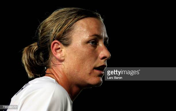 Abby Wambach of USA in action during the Algarve Cup match between USA and Sweden at the Estadio Municipal on March 12 2007 in Vila Real San Antonio...