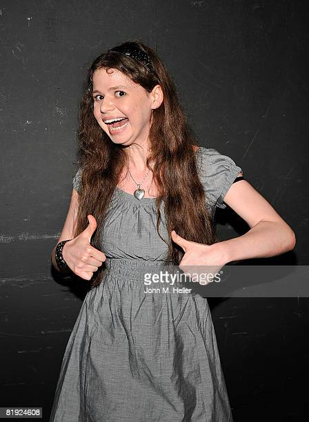 Abby Wilde from the cast of Zoey 101 surprised the kids at Deborah Gibson's Camp Electric Youth on July 11 2008 at the Howard Fine Acting Studio in...