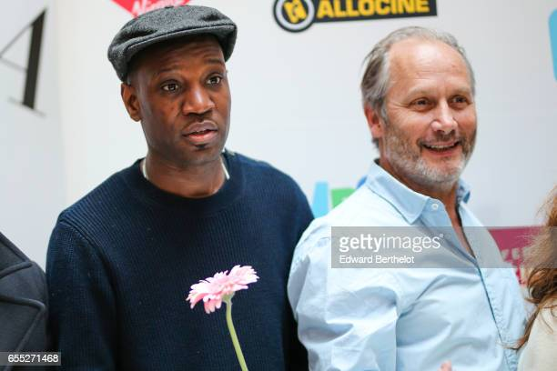 Abd Al Malik and Hippolyte Girardot attend the Printemps Du Cinema 2017 Opening Ceremony at Cinema Pathe Beaugrenelle on March 19 2017 in Paris France