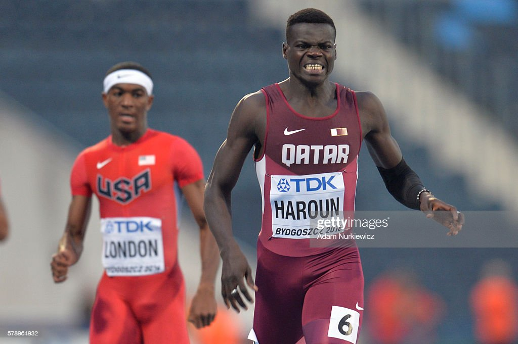 Abdalelah Haroun from Qatar competes in men's 400 metres during the IAAF World U20 Championships at the Zawisza Stadium on July 22, 2016 in Bydgoszcz, Poland.