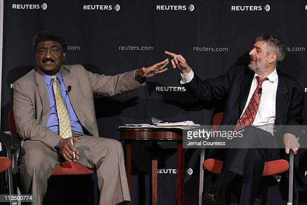 Abdalmahmood Abdalhaleem Mohamad Sudanese Ambassador to the UN and Paul Holmes of Reuters engage each other during the Reuters Newsmakers Panal...
