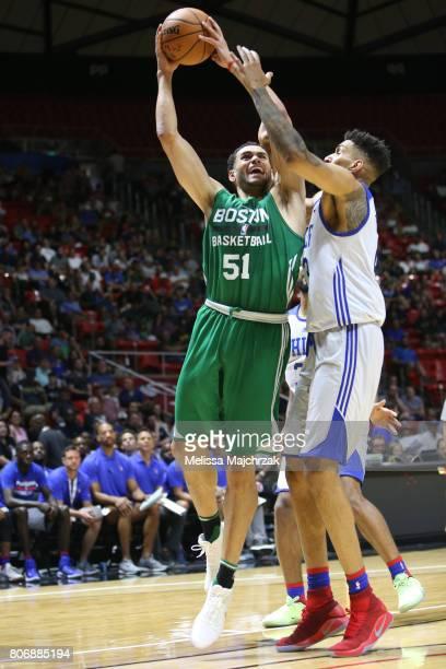 Abdel Nader of the Boston Celtics goes to the basket against the Philadelphia 76ers on July 3 2017 at Jon M Huntsman Center in Salt Lake City Utah...