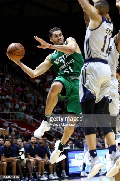 Abdel Nader of the Boston Celtics looks to pass against the Utah Jazz during the 2017 Utah Summer League on July 6 2017 at Jon M Huntsman Center in...
