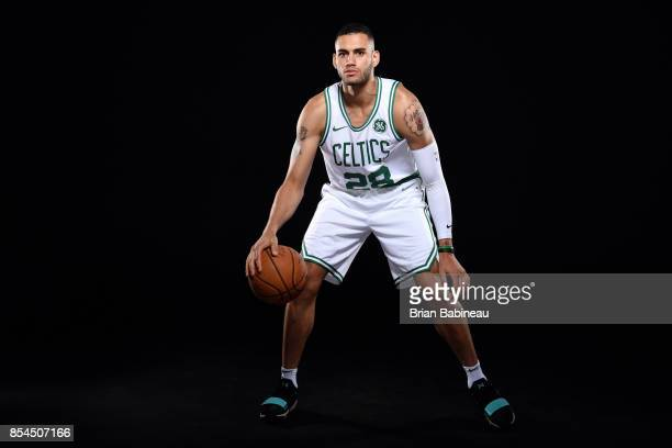 Abdel Nader of the Boston Celtics poses for a portrait during the 201718 NBA Media Day on September 25 2017 at the TD Garden in Boston Massachusetts...
